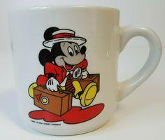 Vintage Mickey Mouse Coffee Mug The Walt Disney Company 1986 Disney Coffee Mugs, Disney Mugs, Vintage Mickey Mouse, Disney Mickey Mouse, Vintage Disney Posters, Most Popular Cartoons, Fun Cup, Walt Disney Company, I Love Coffee