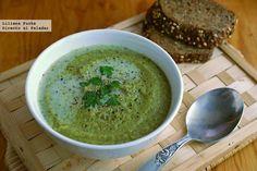 Crema de brócoli y calabacín con leche de almendras. Receta Vegetarian Recepies, Healthy Recipes, Healthy Food, Brunch, Cream Soup, Pasta, Canapes, Mediterranean Recipes, Deli