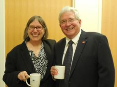 ARG Leaders Anne S. Roberts and Herve' LeBoeuf, III, Ph.D. smile at success of the ADHD in the Workplace event.