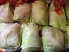 Golabki on 364 days a year, but on March 17th, these are Irish Cabbage Rolls. (Cabbage stuffed with a seasoned ground beef, ground pork, and rice mixture slowly roasted in a marinara type tomato sauce.)