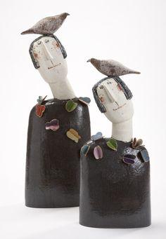 Bird Head Butterflies by Jane Muir