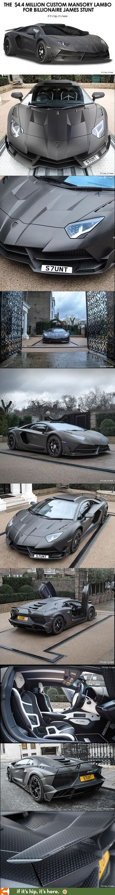The killer Custom Carbon fibre clad Lamborghini by Mansory for billionaire James Stunt at if it's hip, it's here
