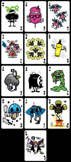 Demons & Diamonds (Playing Cards) | illustration by sebastien CUYPERS, via Behance