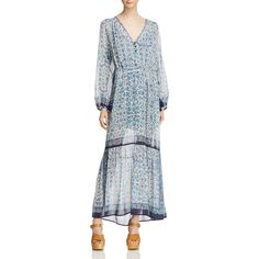 Beltaine Sophie Maxi Dress - 100% Exclusive ($210) ❤ liked on Polyvore featuring dresses, navy, gypsy dresses, maxi length dresses, navy blue dress, gypsy maxi dress and maxi dresses