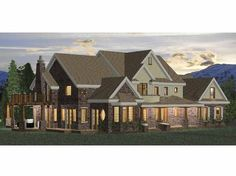 Georgian House Plan with 5048 Square Feet and 5 Bedrooms from Dream Home Source | House Plan Code DHSW68468