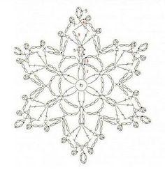 Helen's Home Helen's World: crochet Crochet Snowflake Pattern, Crochet Stars, Crochet Motifs, Crochet Snowflakes, Crochet Diagram, Crochet Granny, Crochet Doilies, Crochet Flowers, Crochet Stitches