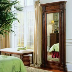 Make the Hooker Furniture Floor Mirror with Jewelry Armoire part of your ritual for getting ready. This large, lovely armoire has a traditional. Clean Gold Jewelry, Black Gold Jewelry, Hooker Furniture, Bedroom Furniture, Howell Furniture, Accent Furniture, Furniture Design, Mirror Jewelry Armoire, Furniture Catalog