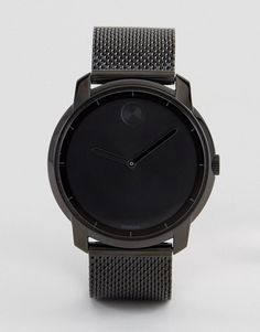 Get this Movado's watch now! Click for more details. Worldwide shipping. Movado Bold 3600261 Mesh Watch In Black - Black: Watch by Movado, Stainless steel mesh strap, Stainless steel case, Two hand movement, Dash indices, Single crown to side, Deployment clasp, Splash proof: do not immerse in water. Made with the same Swiss craftsmanship since its founding in 1881, Movado continues to push the boundaries of modern design with its contemporary wristwear. With a streamlined aesthetic, the…