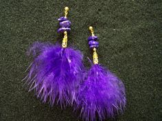 Purple Feather Earrings Jewel Tone Colors, Jewel Tones, Lilacs, Feather Earrings, Mauve, Amethyst, Lavender, Jewels, Christmas Ornaments
