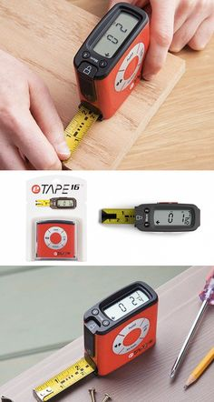 The eTape16 is a digital tape measure that displays results as you measure. Quickly convert measurements to a variety of formats, calculate midpoints, and store results.