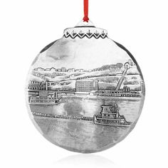 Station Square Ornament by Linda Barnicott