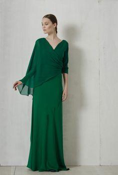Vestido largo Sarah verde, SS 17 collection – Cortana Moda