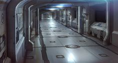 I picture the inside of the space station Exxox looking somewhat similar to this...depending on what level you're on. I think this is a third class corridor leading to a security bunker.