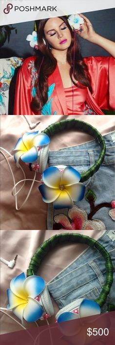 Lana Del Rey Floral Headphones 🌺 Selling Lana Del Rey flower headphones from video Music to boys to watch to. This is exactly that headphones from Lana's stylist Kacy that worked with her on that video clip. Very rare, she is not making this style headphones for sale anymore! Also selling matching shorts, please check my other items Accessories Hair Accessories