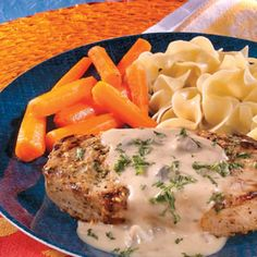 Seasoned, browned pork chops simmered in a creamy mustard-laced sauce - it may sound complicated, but you'll be surprised how quick, easy and delicious it really is.