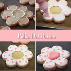 Polka Dot Daisy how to (vanilla bean sugar cookie recipe)