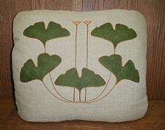 A pillow in the Craftsman theme