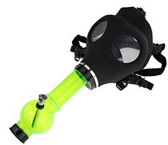 Bong with gas mask Pipe type bong adapted to an authentic gas mask made of sturdy rubber, includes a removable bowl type metal tip. It allows great blows of smoke or steam through the mask, one of the most fun creations for parties or personal. Bubbler Pipe, Bongs Online, Hookah Smoke, Glass Pipes And Bongs, Cool Bongs, Acrylic Tube, Weed Pipes, Head Shop, Smoke Shops