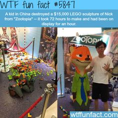 $15,000 LEGO sculpture destroyed - WTF fun facts