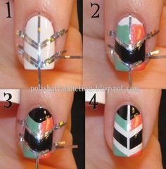 chevron nail hack