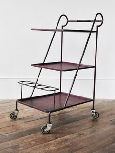 French 1950's Painted-Iron Drinks Trolley | Rose Uniacke