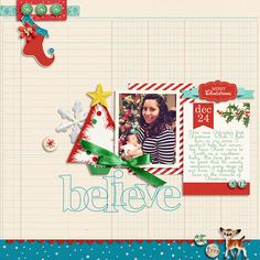 Christmas digital layout by raquels using Santa's Workshop by Sahlin Studio