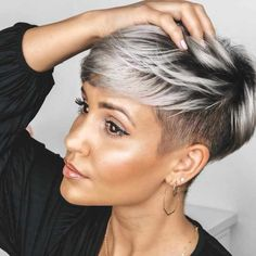 Today we have the most stylish 86 Cute Short Pixie Haircuts. We claim that you have never seen such elegant and eye-catching short hairstyles before. Pixie haircut, of course, offers a lot of options for the hair of the ladies'… Continue Reading → Popular Short Hairstyles, Short Pixie Haircuts, Cool Hairstyles, Short Undercut Hairstyles, Black Hair Short Hairstyles, Pixie Cut With Undercut, Undercut Pixie Haircut, Female Hairstyles, Haircut Short