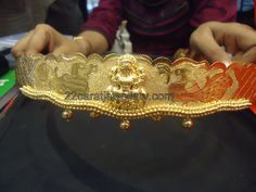Jewellery Designs: Gold Oddiyanam /Vaddanam grams only) Latest Gold Jewellery, Indian Jewellery Design, Jewelry Design, Indian Jewelry, Royal Jewelry, Gold Jewelry, Baby Jewelry, Saree Jewellery, Bridal Jewellery