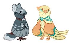 Birbs by fancypigeon on @DeviantArt
