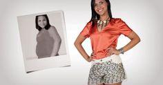 """""""Perdi 35 kg com o suchá emagrecedor. Inventei uma bebida que mistura suco e chá: ela desintoxica o organismo, regula o intestino e combate o inchaço!"""", conta Marcela Souza"""