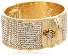 "Amazon.com: KARA by Kara Ross Pave Small Shirt Cuff Bracelet, 2.5"": Jewelry"
