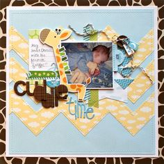 cuddle time by jennyevans Jones alissa Peas in a Bucket Baby Scrapbook Pages, Handmade Scrapbook, Baby Boy Scrapbook, Scrapbook Sketches, Scrapbook Cards, Scrapbooking 101, Scrapbook Generation, Borders For Paper, Layout Inspiration