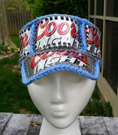 Coors Light crocheted beer can hat