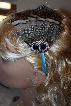 Spotted Owl Headband by vinestjewelry on Etsy, $20.00