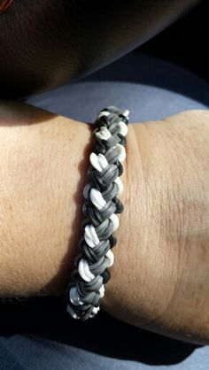 My favorite Rainbow Loom bracelet, so far. It's called the Double Braid.