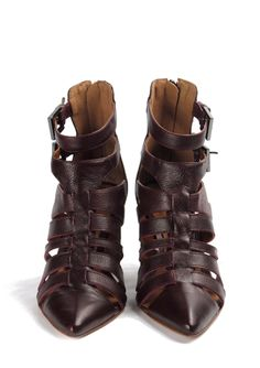 Sandália huarache, Coleção Pre-Fall 2015 Cristófoli, em couro, com solado de couro e salto de 8cm. Para comprar, clique na imagem. FRETE GRÁTIS para todo o Brasil.
