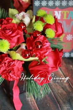 For those who are hard to buy for, @teleflora makes it easy with their gorgeous Holiday bouquets! #sendcheer #client