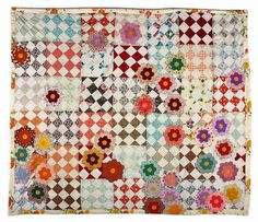 mended quilt.  old and new