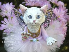 She is amazingly detailed, and sooo cute! :D    Opal the Pixie Kitten Original OOAK Folk Art Cat Doll by ruffings, $500.00