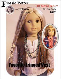 "Favorite Fringed Vest 18"" Doll Clothes"
