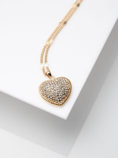Necklace with heart pendant KJ473-GLD  #mohito #jewelry #heart