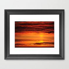 Sunset Framed Art Print by Susann Mielke - $35.00