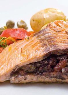 Lombos de salmão recheados