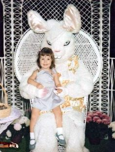 So because we're great here at Surviving College, we've gathered 8 terrible Easter Bunny pics, just for you. Click through! (Adorable consolation surprise at the end of it!)