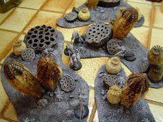 DSC01870 | Flickr - Photo Sharing! alien landscape terrain Game Terrain, 40k Terrain, Wargaming Terrain, Warhammer Figures, Warhammer 40k, Orks 40k, Alien Plants, Warhammer Terrain, Model Tree