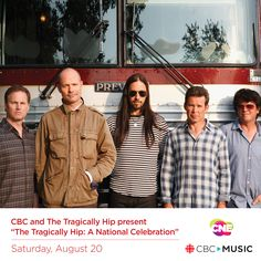 """BREAKING: CNE Announces a Live Broadcast Event of The Tragically Hip Concert from Kingston, ON   """"CBC and The Tragically Hip present 'The Tragically Hip: A National Celebration'"""" will air on the CNE Bandshell Stage Saturday, August 20   #tragicallyhip #cbc #music #concerts #cne2016 #letsgototheex #toronto"""