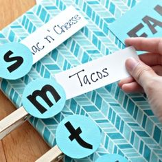 Take the stress out of weekly meal planning with a cute DIY menu board.