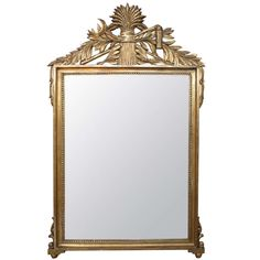 Italian Gilt Wood Mirror | From a unique collection of antique and modern wall mirrors at http://www.1stdibs.com/furniture/mirrors/wall-mirrors/