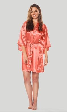 Silk Satin Wedding Bride Bridesmaid Robe Floral Bathrobe Short Kimono Robe Night Robe Bath Robe Fashion Dressing Gown for Women – serenityboutique Moda Kimono, Kids Robes, Silk Kimono Robe, Short Kimono, Satin Shorts, Bridesmaid Robes, Kimono Fashion, Silk Satin, Sexy