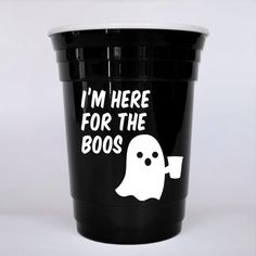 Funny, #halloween inspired party cup great for adult Halloween parties. This hard plastic party cup makes a great party favor for adults that can be used all night.
